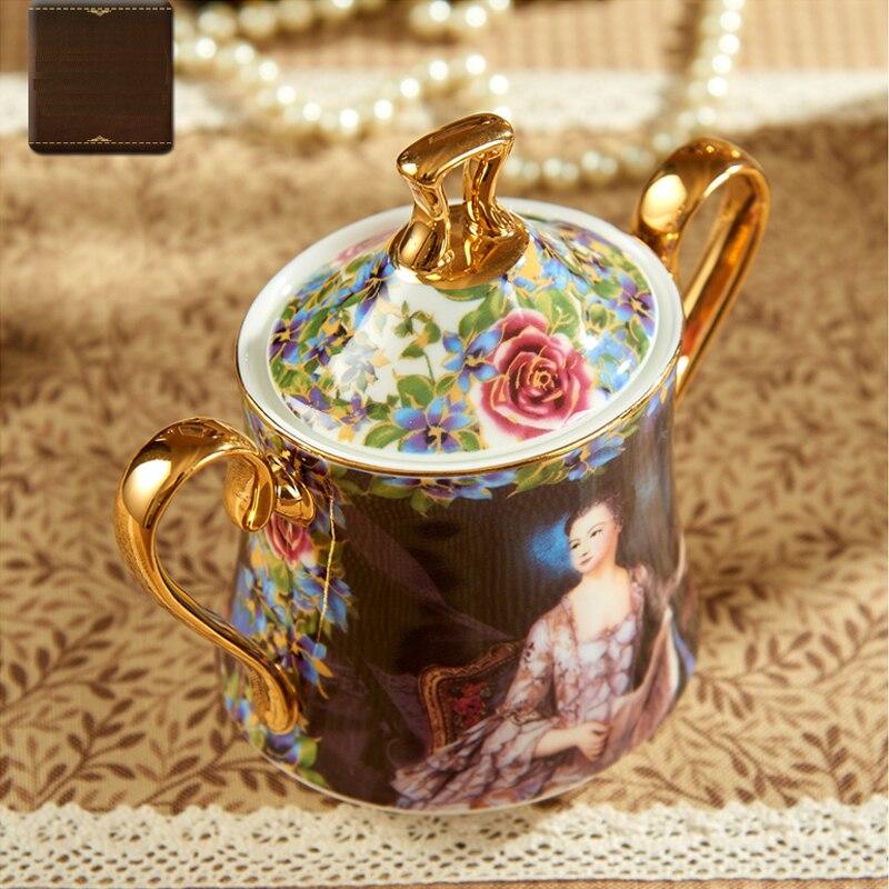 Image 3 - YeFine Bone Porcelain Coffee Sets 15 PCS Wedding Gift With Coffee Pot Coffee Cups And Saucers Sugar Bowl Milk Jug Ceramicporcelain bowl setporcelain setset bowls -