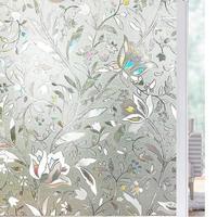 Länge 200cm Tulpe Blume 3D Statisch Haftenden Dekorative Privatsphäre geätzt Glas Fenster Film Vinyl Keine-Kleber Drop-verschiffen Laser Filme