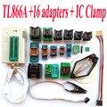 TL866A programador + 16 adaptadores + IC BRAÇADEIRA de Alta velocidade TL866 AVR PIC Bios 51 MCU Eprom Programmer Russo Inglês manual