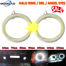 цена на 1pcs Car Angel Eyes Led Car Halo Ring Lights Led Angel Eyes Headlight Headlight Lamp DRL 12V Car LED Fog light Angel Eyes Light