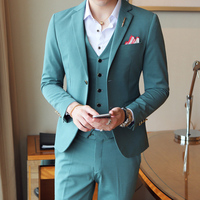 Black Beige Green Men Suits For Wedding 2019 Spring Slim Fit Men's Suits Formal Costume Homme Luxe Brand Dropshipping Q528