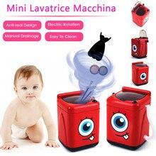 Mini pincel de maquillaje, limpieza eléctrica, color rosa, lavadora, juguetes de simulación, juguetes para niños, muebles, juguetes para niños, regalo del Día de los niños