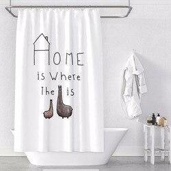 Custom Made zasłona prysznicowa kurtyna łazienkowa partycja + haki 1.2/1.5/1.8/2x1.8m 1.5x2m 1.8x2m 2x2m 2.4x2m Home White ins