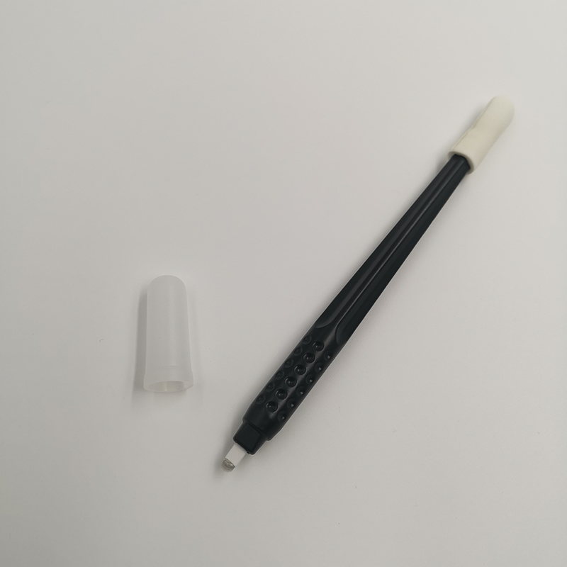 New disposable manual tattoo eyebrow pen with 0 15mm black 18U pin blade needles permanent makeup