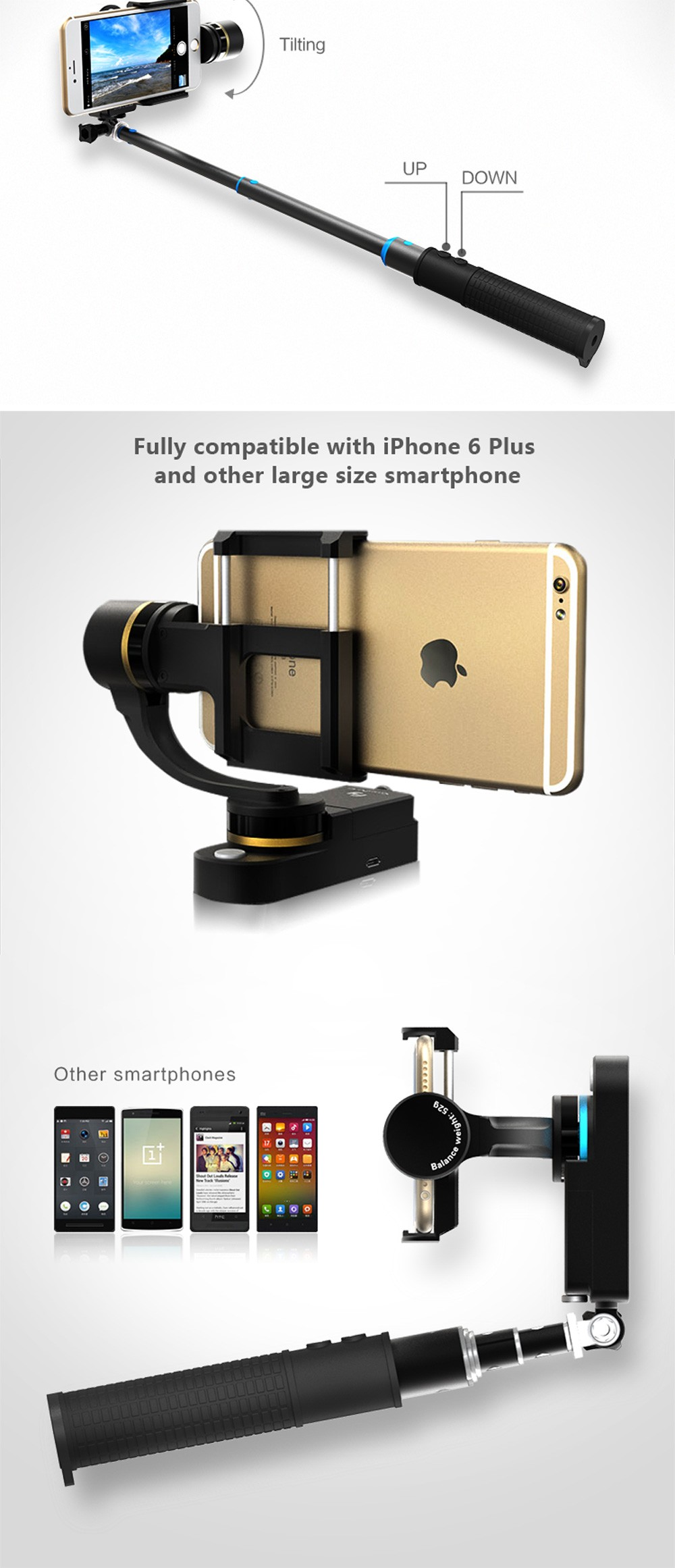 Feiyu FY smartstab 2 axis handheld Phone brushless gimbal stabilizer for smartphone iphone 7 6+ 6s PK Smooth C Free Shipping