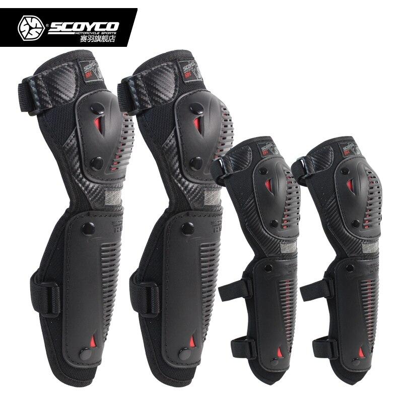 SCOYCO K10H10-2 Moto Genouillère Coude et Du Genou Protecteur Moteur Vélo Vélo Équipement De Protection Motocross Genouillères