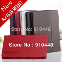 Fashion Smart Cover Stand holder Protective PU Leather Case For ASUS Eee MeMO Pad Smart ME301T 10.1' 301t