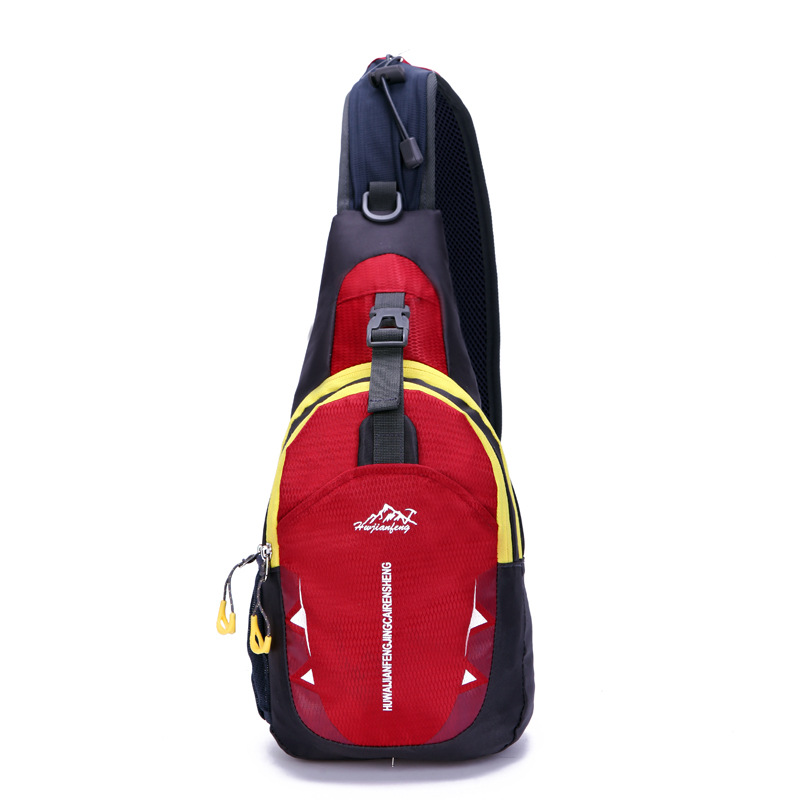 HUWAIJIANFENG 2017 new all-match waterproof nylon bag and chest pack outdoor sports leisure fitness running