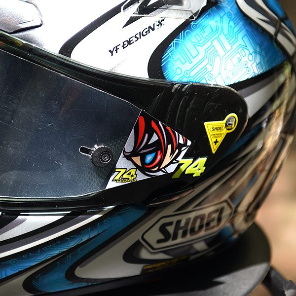 Reflective Motorcycle Visor PromotionShop For Promotional - Motorcycle helmet face shield decals