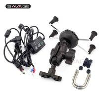 X Grip Phone Holder USB Charger For DUCATI Hypermotard 796 821 939 1100/EVO Multistrada 1000DS 1200 DVT/S GPS Navigation Bracket
