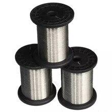 Superfície lisa brilhante da condição dura de 0.1mm 100 medidores ss304 carretéis de fio de aço inoxidável