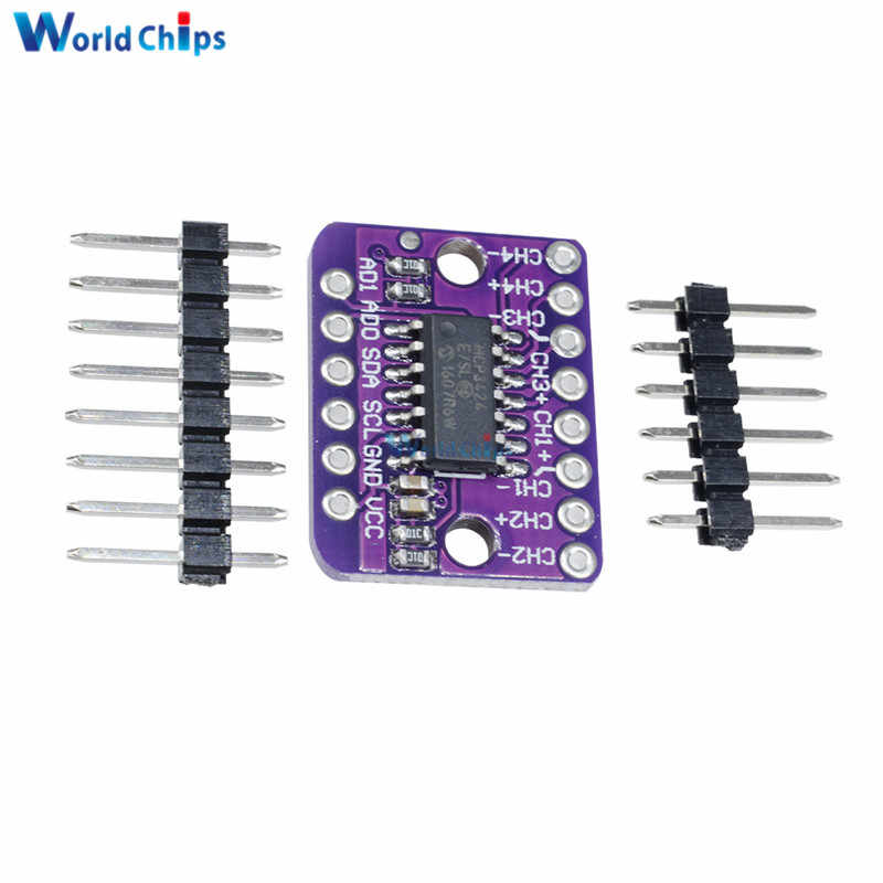 MCP3424 Digital I2C ADC-4 Channel Conversion Module For Raspberry Pi For  Arduino 2 7 - 5 5V High Accuracy