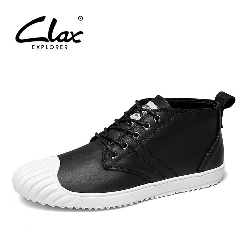 CLAX Men's Shoes Genuine Leather Spring Autumn Casual Walking Footwear Male Leather Shoe Fashion chaussure homme luxury brand vesonal 2017 brand casual male shoes adult men crocodile grain genuine leather spring autumn fashion luxury quality footwear man