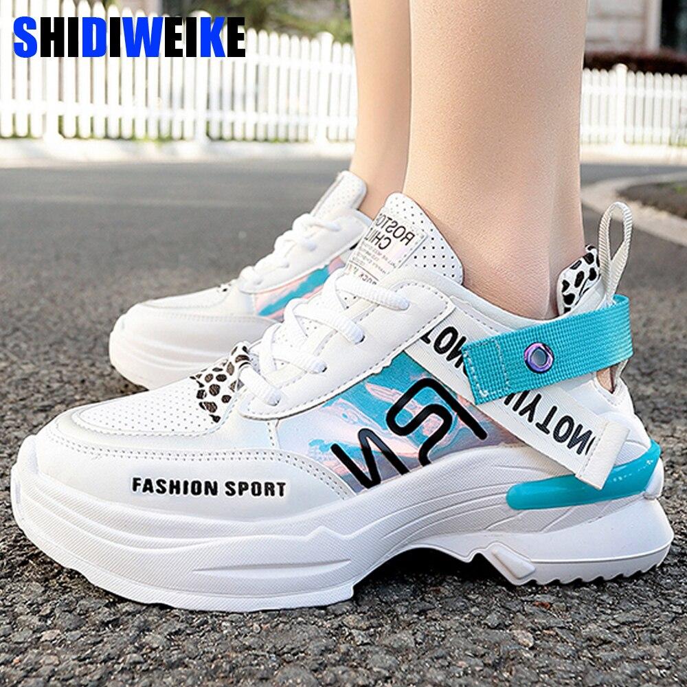 ¡Novedad de primavera y otoño de 2020! Zapatos informales a la moda para mujer, zapatos cómodos con plataforma, zapatillas para mujer, zapatos femeninos g357 4