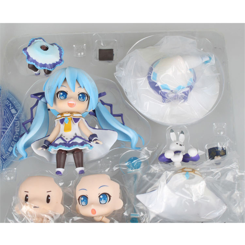 Magical girl Japan Anime MIKU Action Figure Finished Goods 10CM PVC Model Toy With Box Collection Figure Toys gift For Children lps toy pet shop cute beach coconut trees and crabs action figure pvc lps toys for children birthday christmas gift