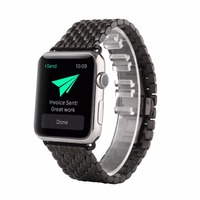 42mm Watchbands for Apple Watch Stailess Steel Band Metal Strap Unique Polishing Process Business Replacement iWatch Strap Black