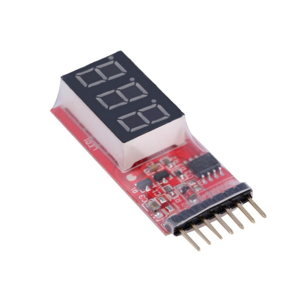 RC Voltage Lipo Battery Meter Tester Indicator 2-6 cells LED Panel Voltmeter for 2S-6S(7.4V~22.2V)Li-Po /Li-ion/LiMn/Li-Fe Batte