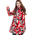 Winter fashion color butterfly slim slim down cotton padded jacket in the long section of female Warm Women Hooded Coat LXT19