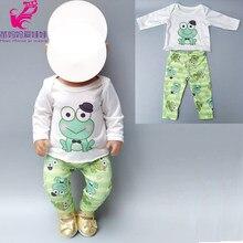 7ae6fd660396d Vêtements de poupée pour 43 cm Reborn bébé poupée garçon vêtements  grenouille verte pour 40 cm