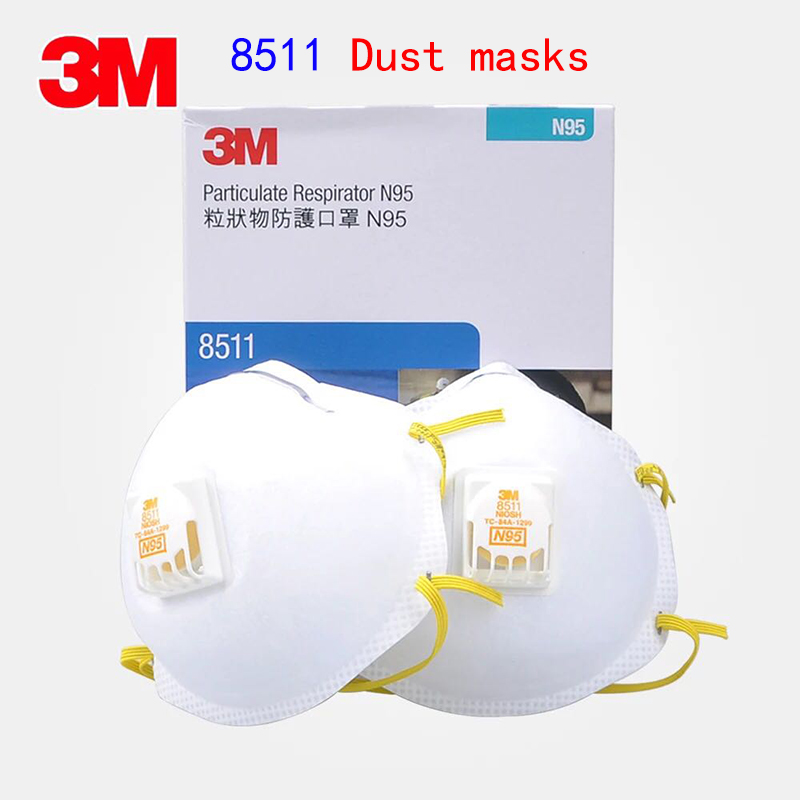 3M 8511CN N95 respirator mask With a breathing valve dust mask against Dust particles PM2.5 welding Fiber dust filter mask цены онлайн