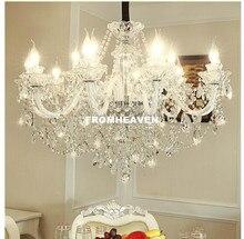 Бесплатная доставка, прозрачный люстра прозрачная люстра lustre de cristal украшения Тиффани подвески и люстры домашнее освещение