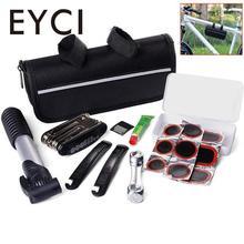 EYCI  16 in 1 Bicycle Repair Tool Set Portable High Quality Bike Repair Kit with Saddle Bag Bike Mini Pump Tire Inflator Pump