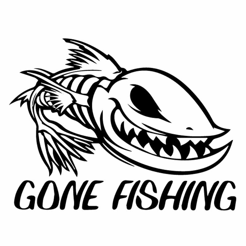 Carp Hunting Gone Fishing Sticker Fishing Vinyl Car Decals Pike Hunting