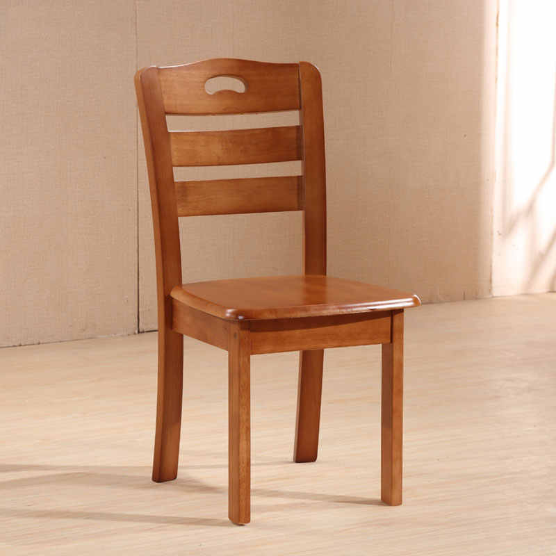 Solid Wood Dining Chair Home Back Simple Modern Wooden Chair Bench