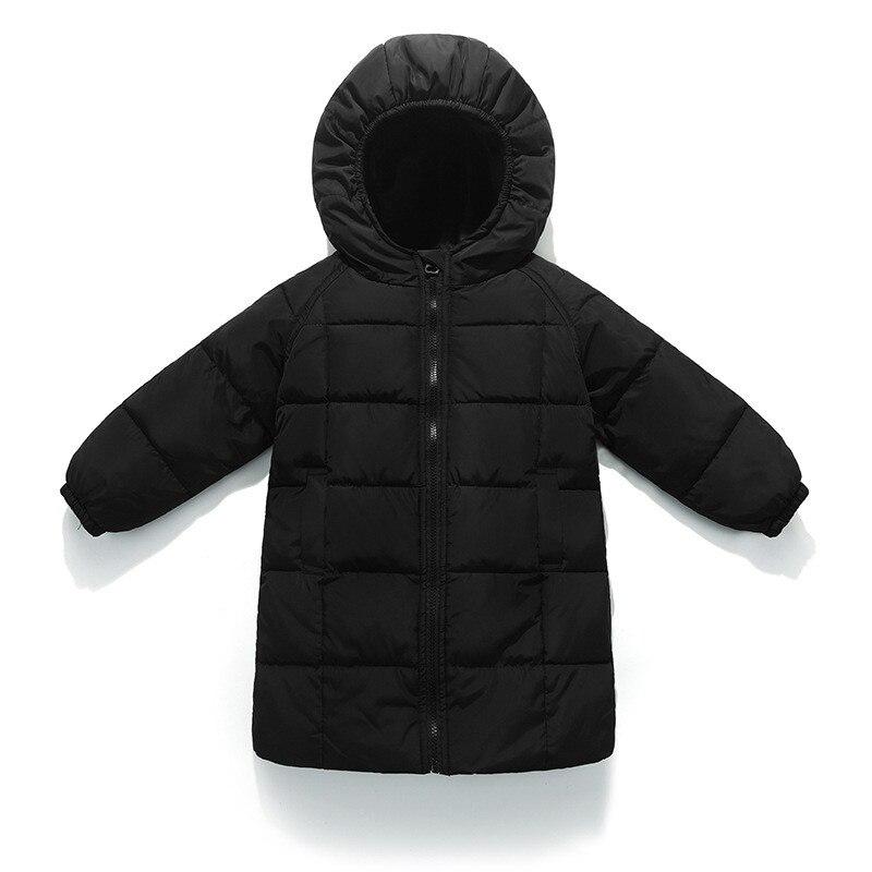 2018 Neue Marke Baby Mädchen Unten Jacke Federn Kinder Warme Oberbekleidung Lange Mäntel Kinder Jungen Herbst Parkas Mädchen Kleidung D1038