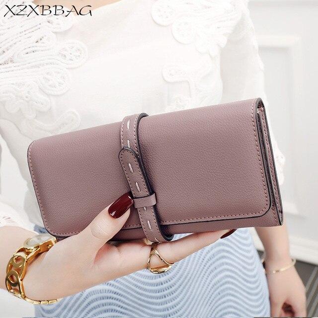 ba5070ec27 XZXBBAG Women Vintage Multifunction Long Wallet Female Big Capacity Card  Package PU Coin Purse Girl Handbag Money Bag Clutch