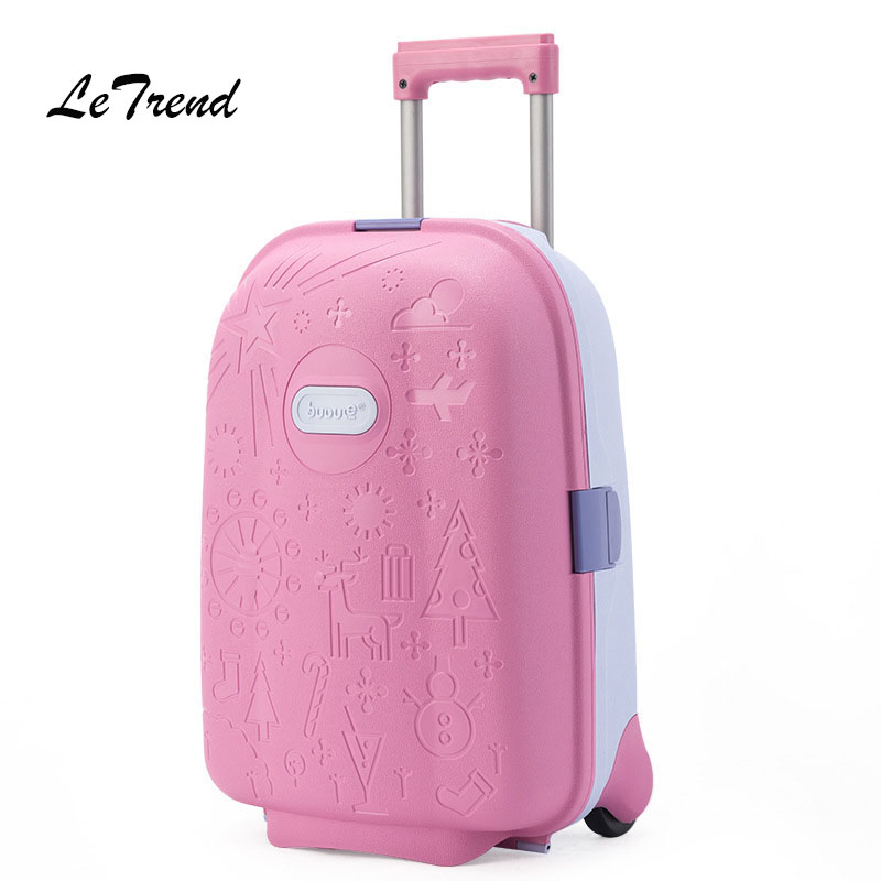 Letrend Kids Cute Cartoon Rolling Luggage Spinner Children Wheel Suitcases Trolley Travel Bag Student Cabin School Bag Trunk letrend oxford red rolling luggage suitcases on wheel men business trolley spinner fashion cabin luggage travel bag soft trunk