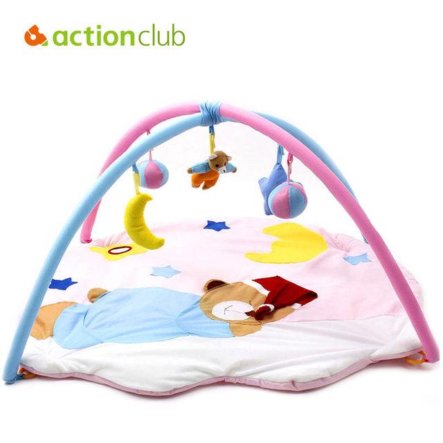 2015 Kawaii Toy Baby Play Mat Crawling Educación Infantil Dormir Oso Tapete Actividad Gimnasio Tapete de Juego Alfombra 0-1 año HK872