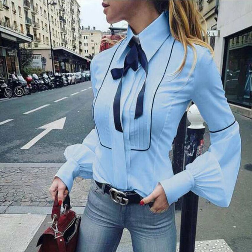 Office Bow Tie Blouse 2