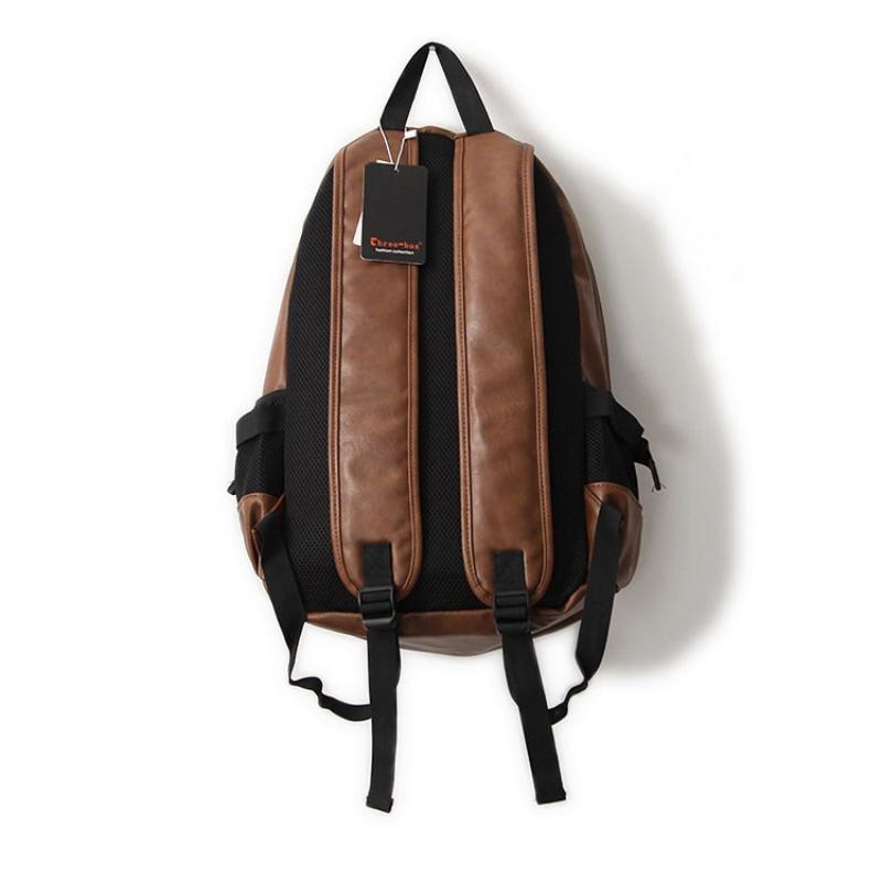 f4b7b6ee0320 Fashion Brand Men s Backpack PU Leather Backpacks Male School Bag Laptop Backpack  Man Black Brown Waterproof Travel Backpack X57
