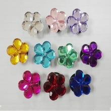 Fashiong Beautiful 22PCS Flowers Crystal PVC Shoe Charms,Shoe Accessories Decoractions Fit Bracelets Croc,Kids Party Gifts/Favor