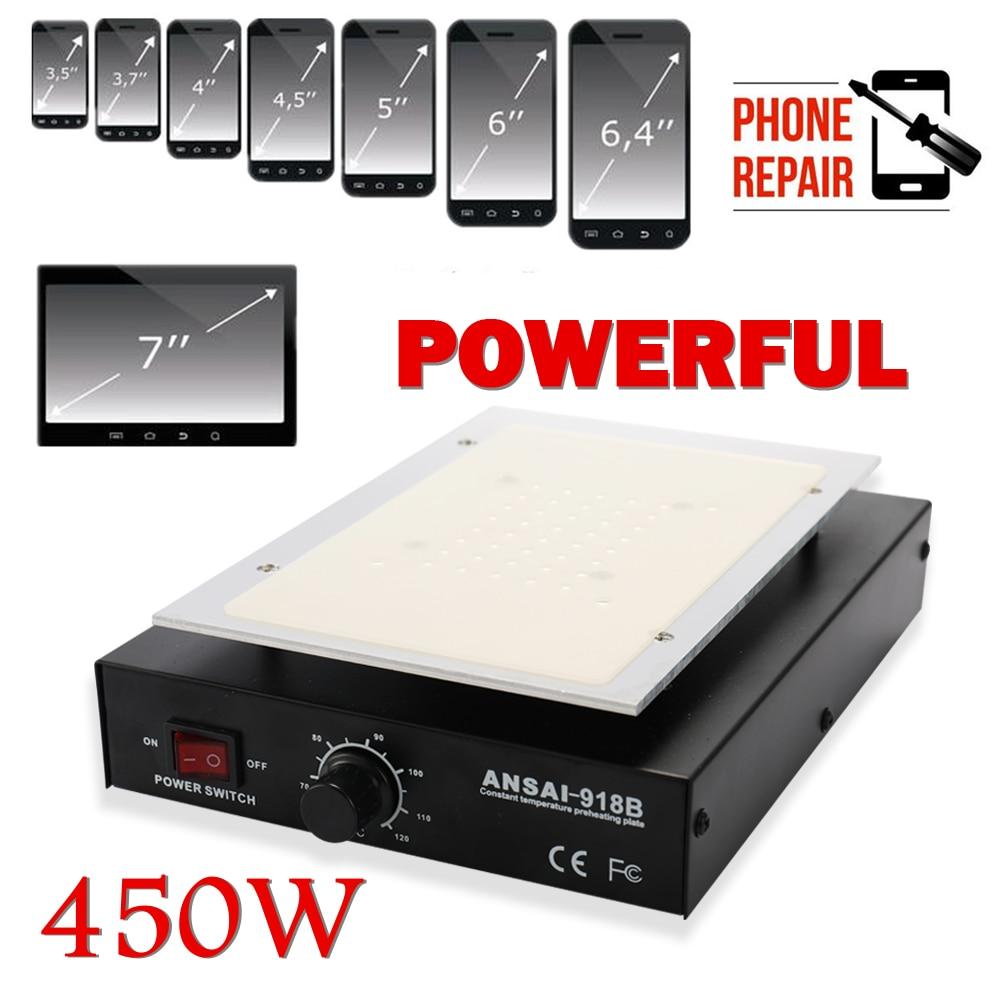 KKMOON LCD Heating Platform Metal Removal Phone Separator Repair Machine Auto Heat Smooth Plate Screen Separator