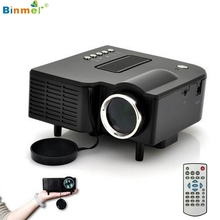 Venta superior! 2017 Popular HD 1080 P LED Mini Proyector Multimedia Cine Cine en Casa HDMI VGA USB SD de Alta calidad Mar27
