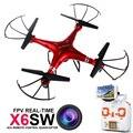 2016 720 p X6sw Rc Zangão Helicóptero Quadcopter Drones Profissionais Com C4010 Wifi Fpv Hd Camera (syma x5sw upgrated versão)