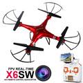 2016 720p X6sw Rc Helicopter Drone Quadcopter Professional Drones With C4010 Wifi Fpv Hd Camera (syma X5sw Upgrated Version)