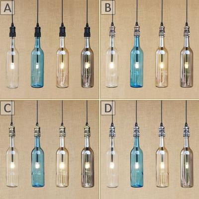 Creative winebottle decorate pendant lamp for bar restaurant coffee худи print bar decorate tree