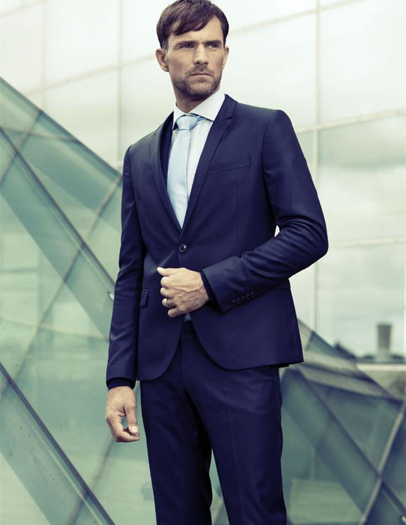 Aliexpress.com : Buy men tailor suits groom wear royal blue for ...