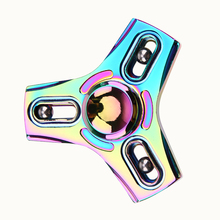 Fidget Hand Spinner With Steel Ball Colorful Alloy Hand Spinner ADHD Fidget EDC Fingertip Gyro Anti