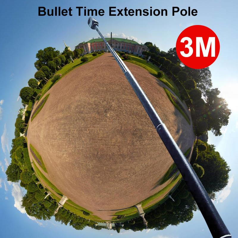 New 3m Aluminum Alloy Pole Super Long Five-section Telescopic Selfie Stick For Insta360 One X  amp  One 360 VR Camera Accessories
