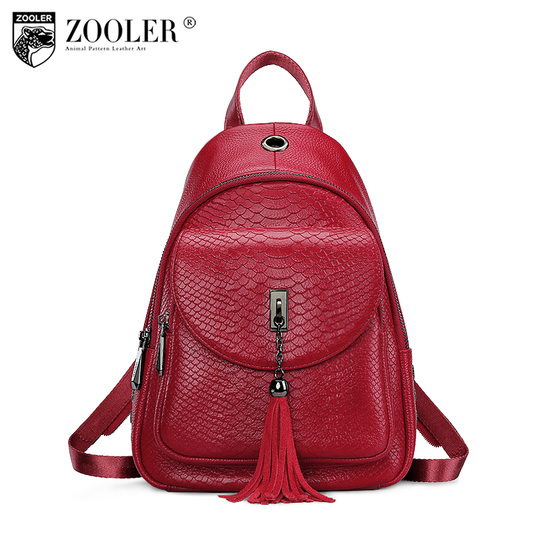 ZOOLER Genuine Leather bagpack leather backpack women fashion backpacks girl school bags for women kanken leather backpack B133 cardamom fashion leather backpack women bags cowhide leather bagpack with colorful patchwork backpacks for women