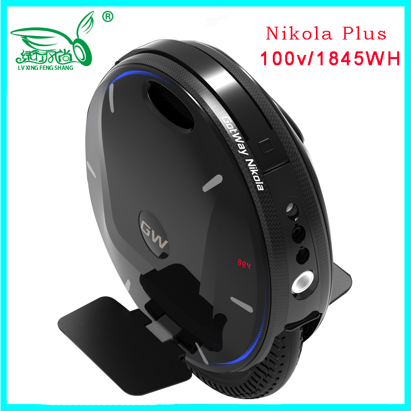 2019 Hotest Gotway Nikola Plus Electric unicycle 100V 1845WH 3000W,max speed 60km/h,battery life 120-160km,monowheel scooter
