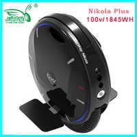 2019 caliente Gotway Nikola Plus monociclo eléctrico 100V 1845WH 3000 W, Velocidad máxima 60 km/h, vida útil de la batería 120-160 km, monopatín