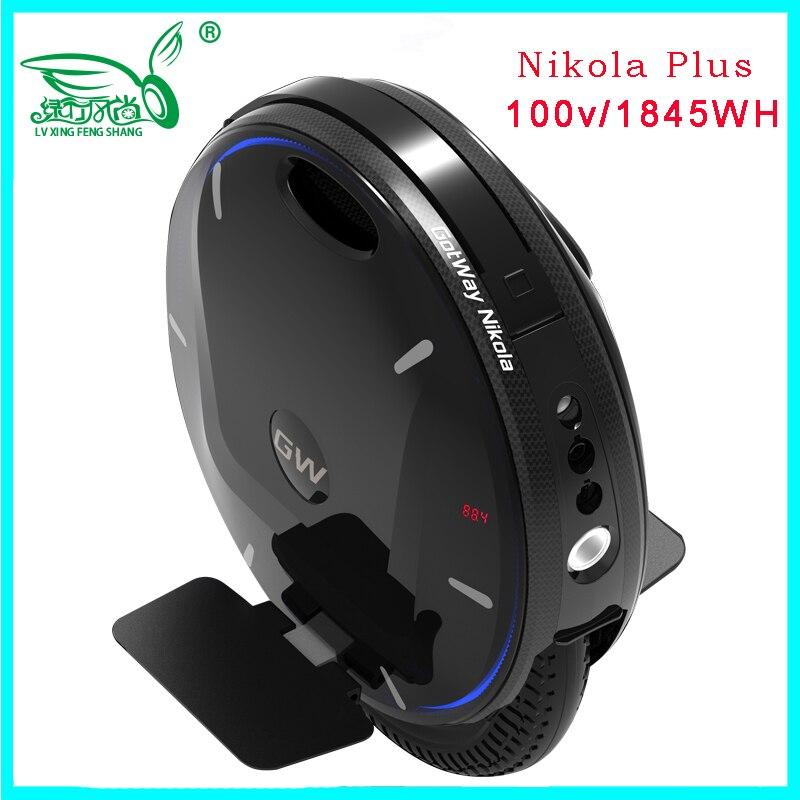 2019 monocycle électrique Gotway Nikola Plus le Plus chaud 100 V 1845WH 3000 W, vitesse max 60 km/h, autonomie de la batterie 120-160 km, scooter monoroue