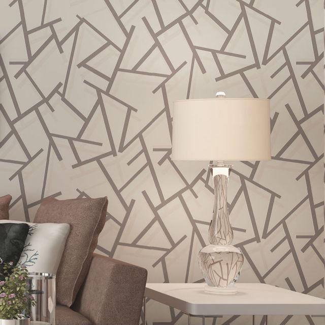 341 56 Sqf 10m Roll Simple Modern Style 3d Red Brown Geometry Wallpaper Bedroom Wallpaper Wall Covering En Fondos De Pantalla De Mejoras Para El