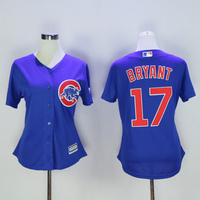 MLB Women S Chicago Cubs Kris Bryant Blue Cool Base Jersey