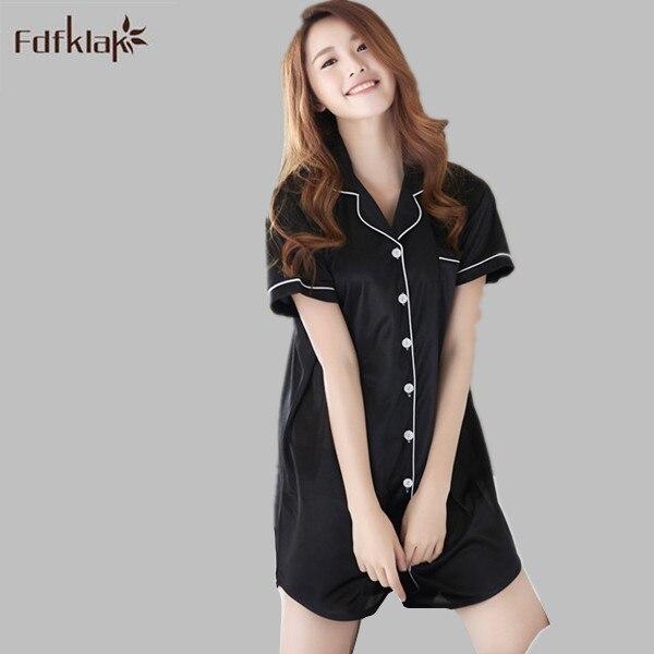 76ec2b06f6 Summer Dress 2017 Nightwear Women Satin Sexy Plus Size Lingerie Silk  Sleepwear Night Shirts Short Sleeve Sexy Nightgown E1167